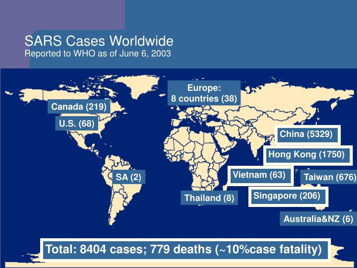 SARS Cases Worldwide