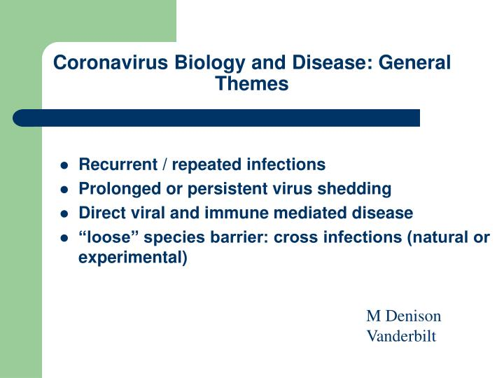 Coronavirus Biology and Disease: General Themes
