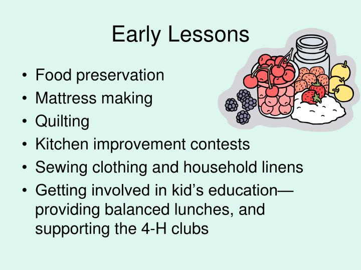 Early Lessons
