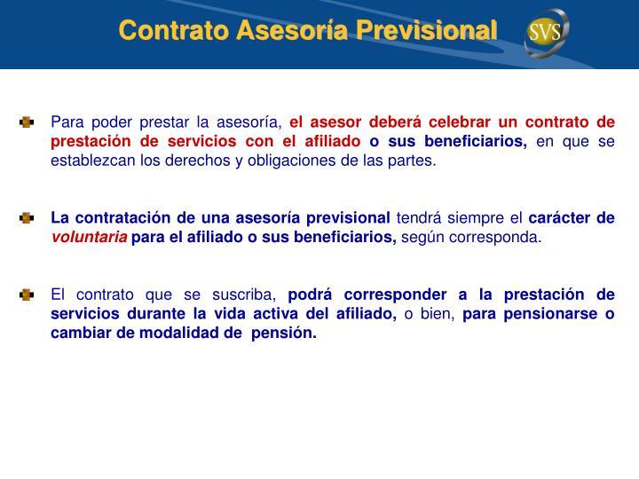 Contrato Asesoría Previsional