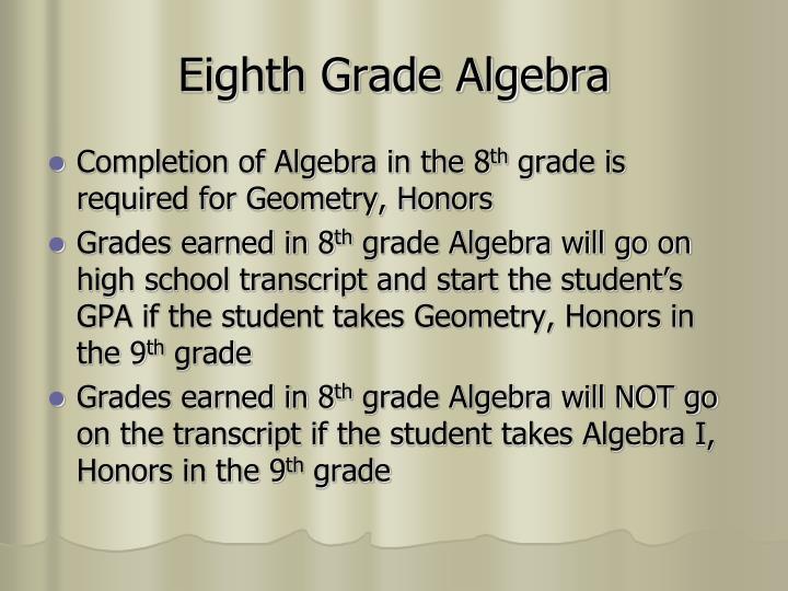 Eighth Grade Algebra