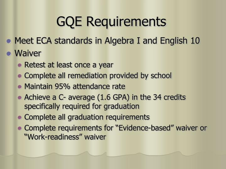 GQE Requirements