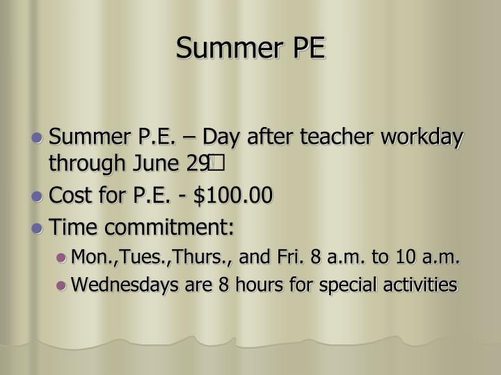 Summer PE
