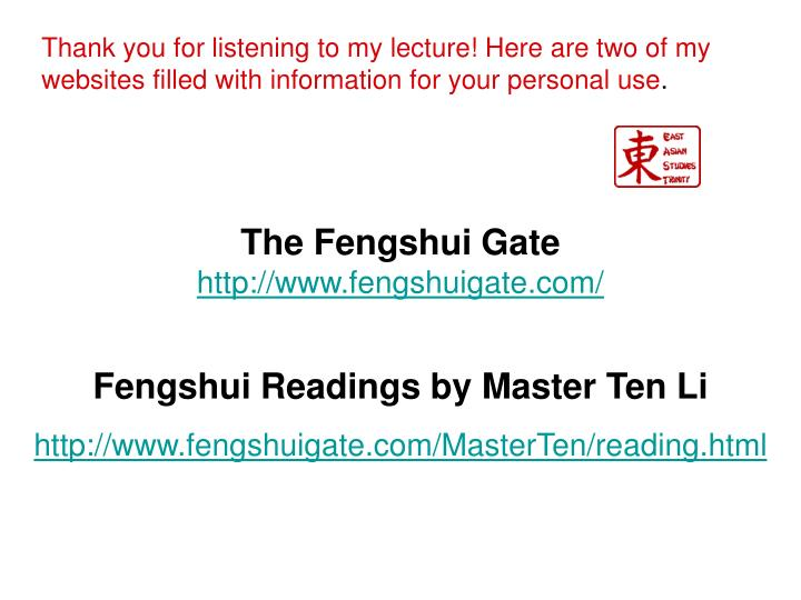 The Fengshui Gate