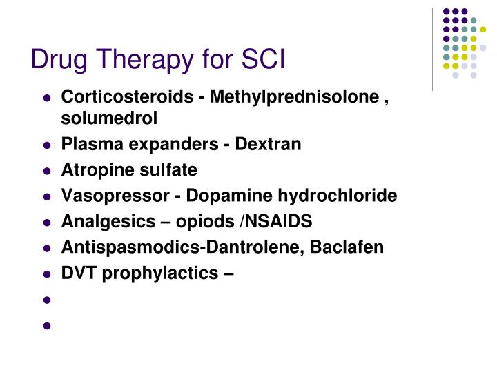 Drug Therapy for SCI