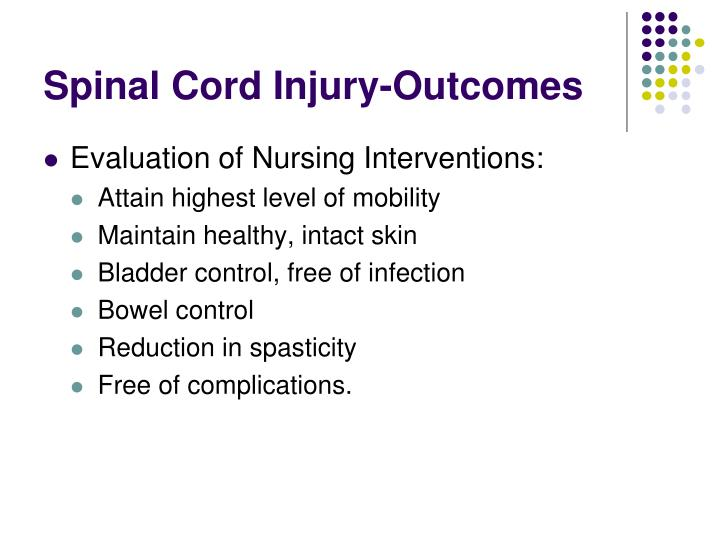 Spinal Cord Injury-Outcomes