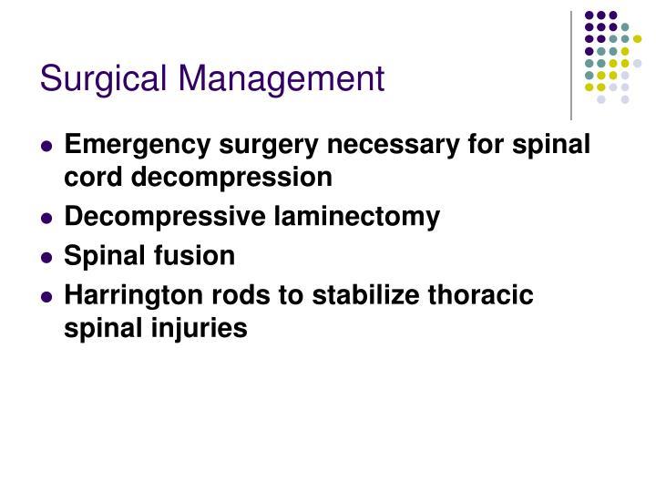 Surgical Management