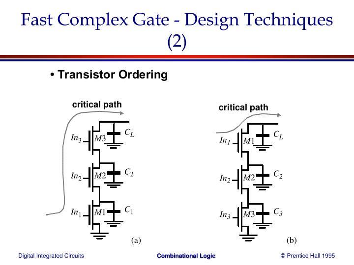 Fast Complex Gate - Design Techniques (2)
