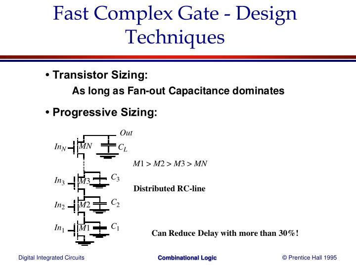 Fast Complex Gate - Design Techniques