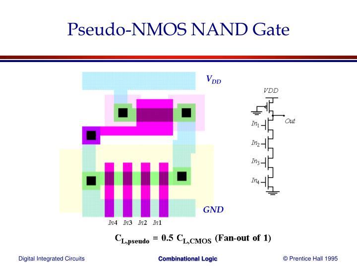 Pseudo-NMOS NAND Gate
