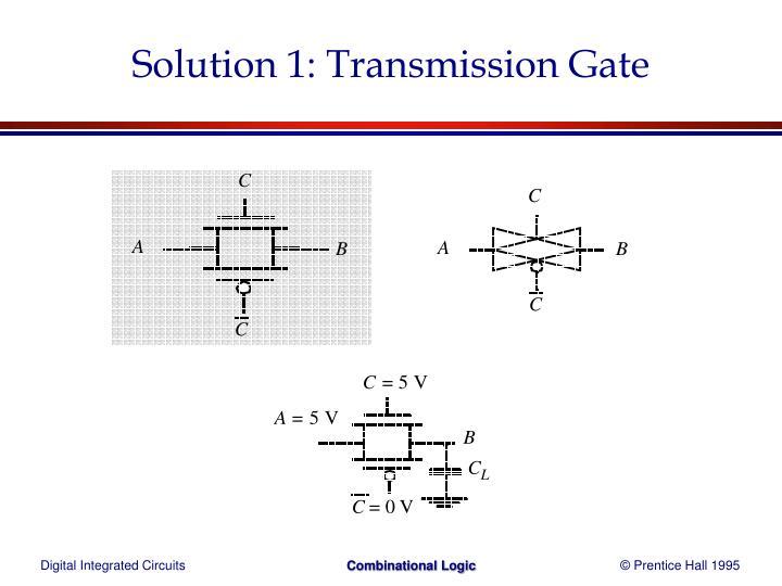 Solution 1: Transmission Gate