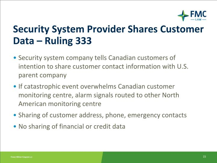 Ppt Privacy Issues In The U S Canada Cross Border