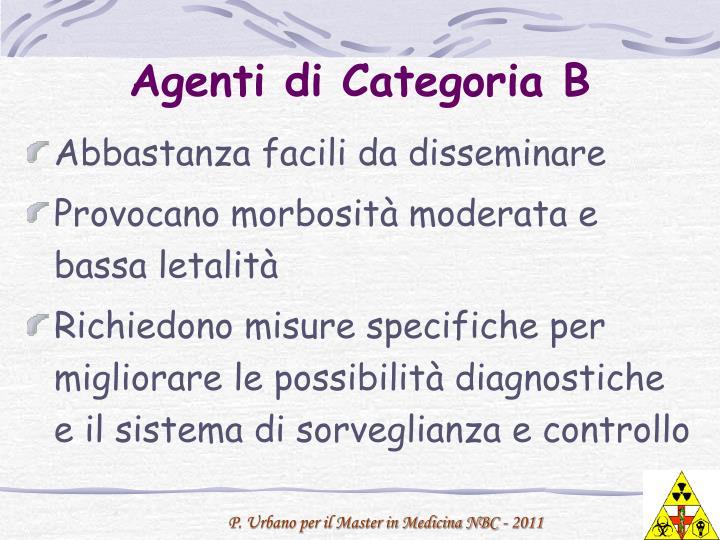 Agenti di Categoria B