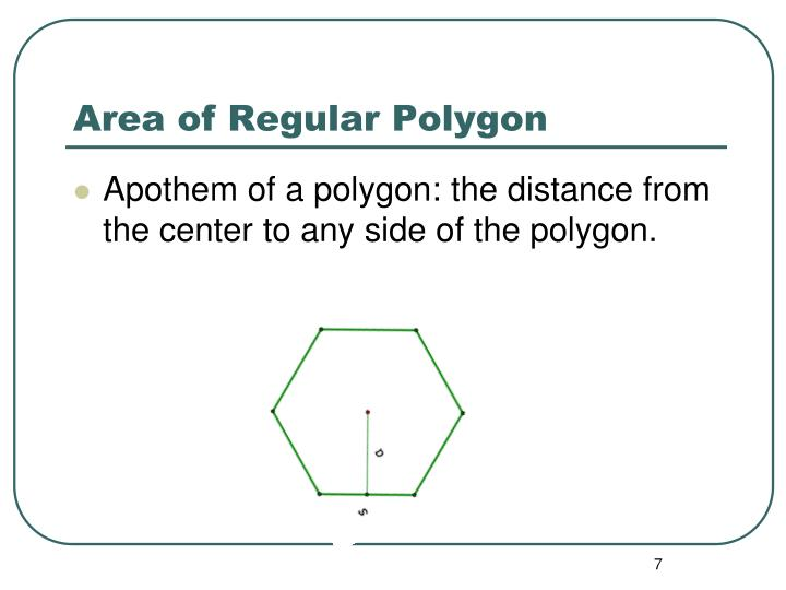 Area of Regular Polygon