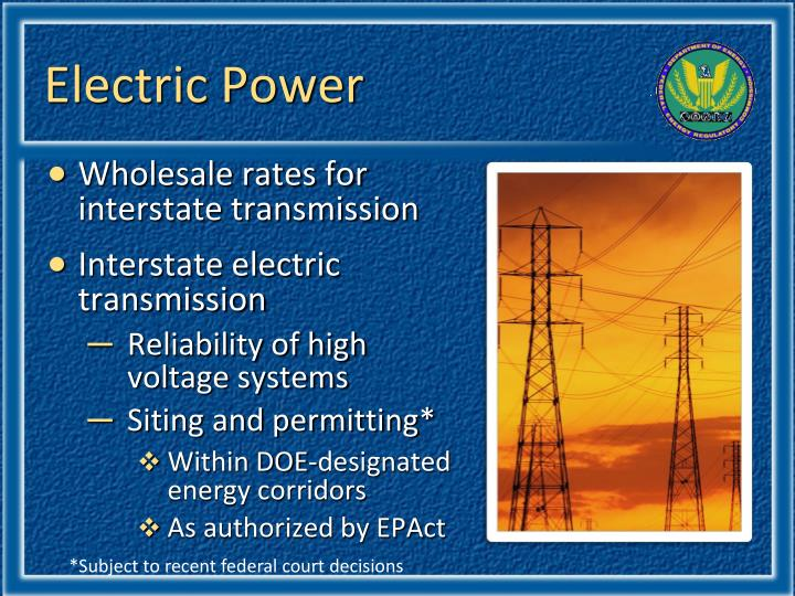 Electric Power