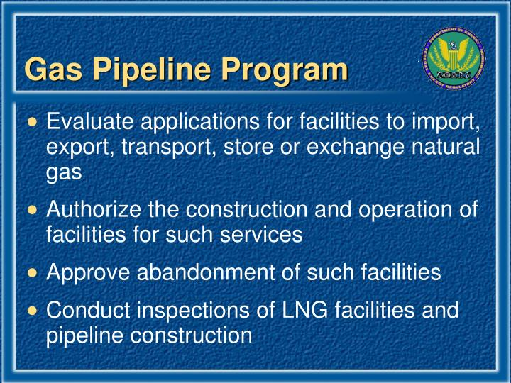 Gas Pipeline Program