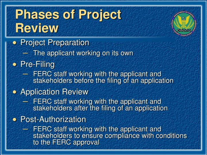 Phases of Project Review