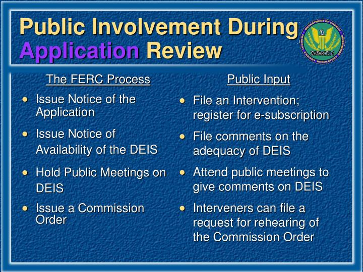Public Involvement During