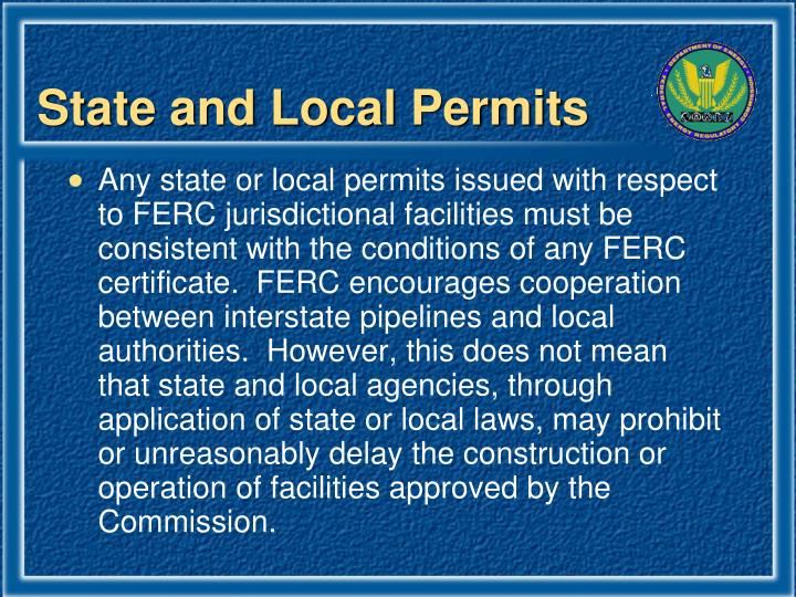 State and Local Permits