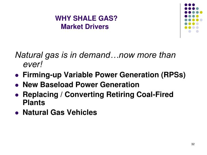 WHY SHALE GAS?
