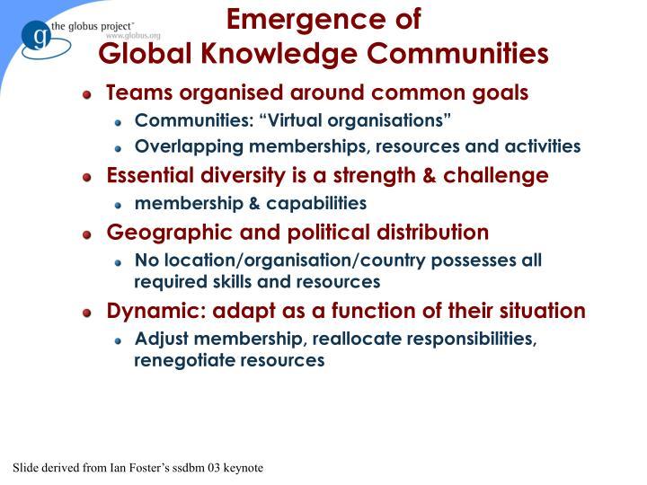 Emergence of