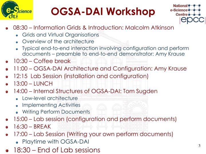 Ogsa dai workshop