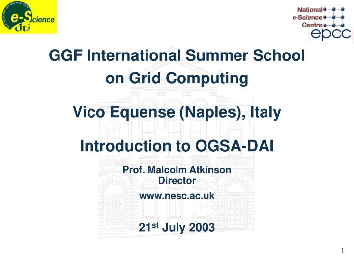 GGF International Summer School