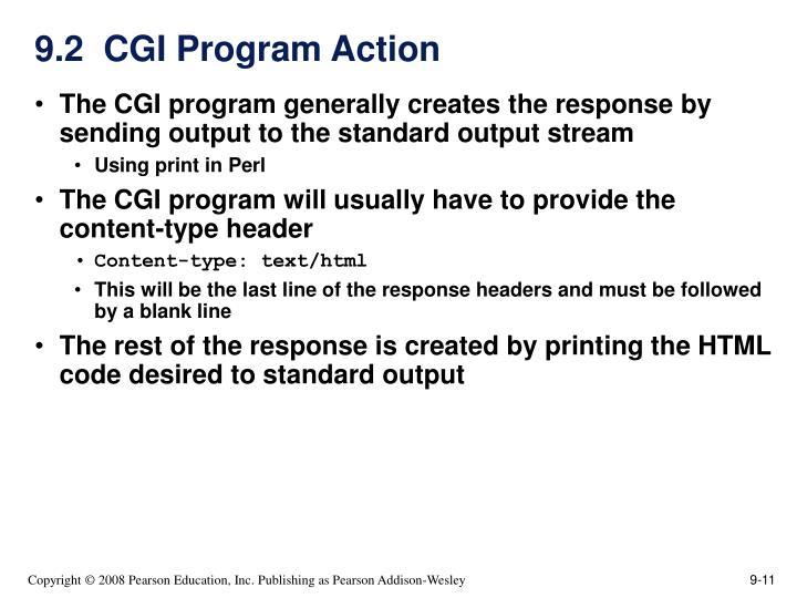 9.2  CGI Program Action