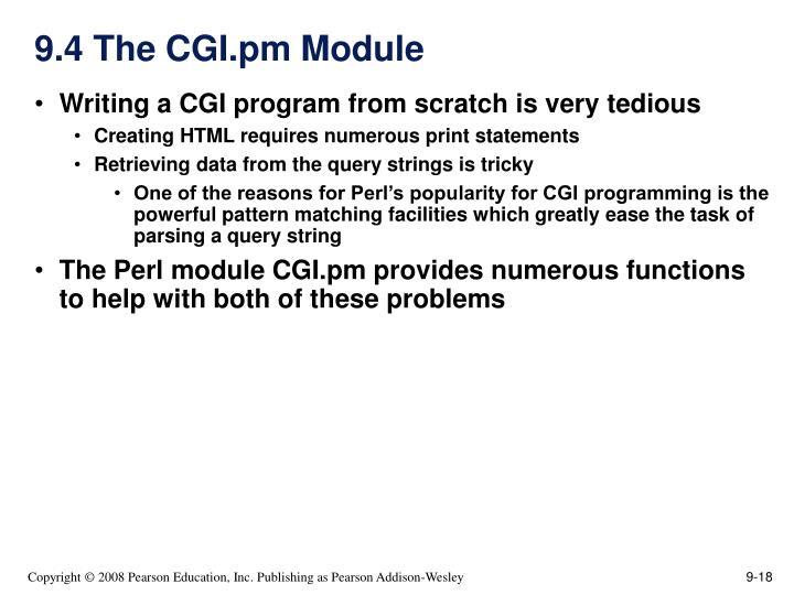 9.4 The CGI.pm Module