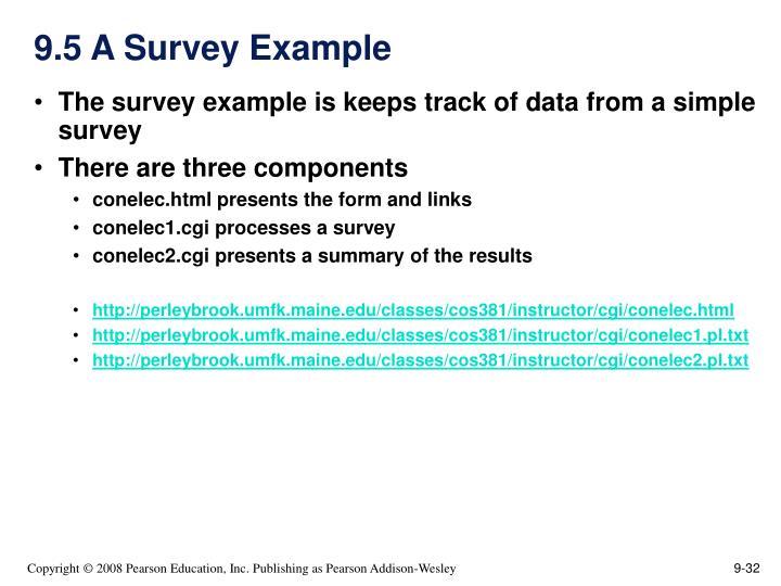 9.5 A Survey Example