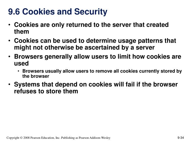 9.6 Cookies and Security