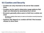 9 6 cookies and security