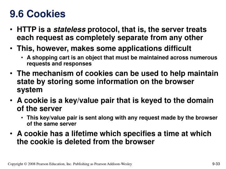 9.6 Cookies