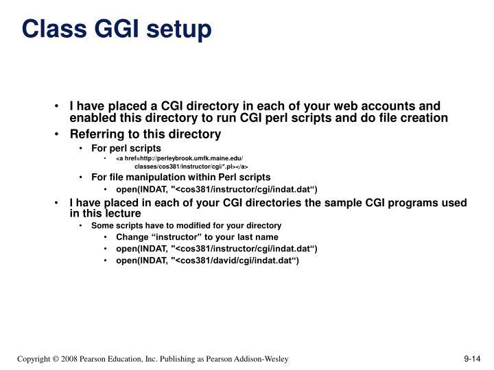 Class GGI setup