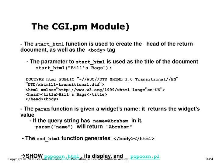 The CGI.pm Module)