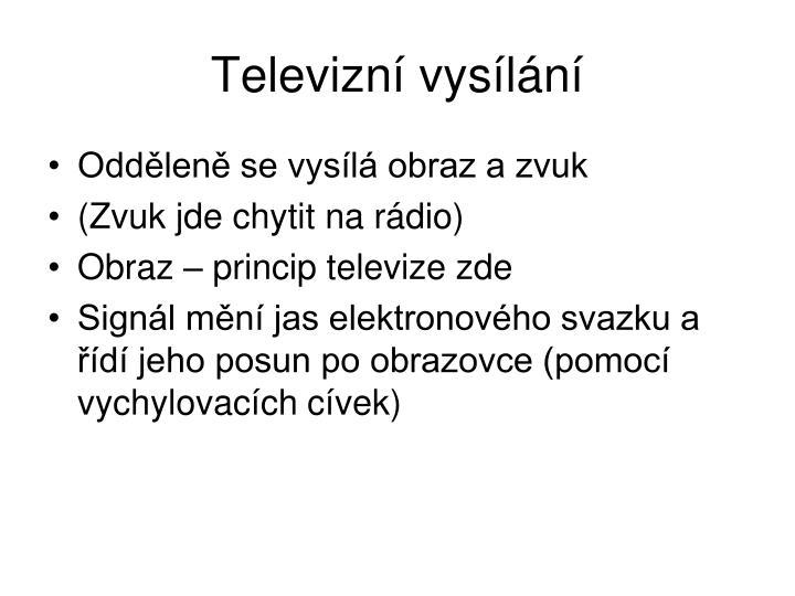Televizní vysílání