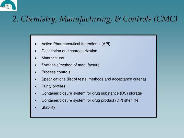 2. Chemistry, Manufacturing, & Controls (CMC)