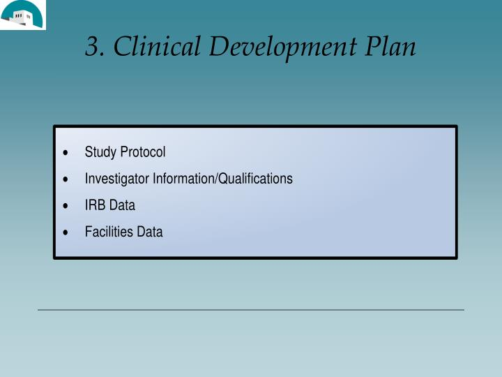 3. Clinical Development Plan