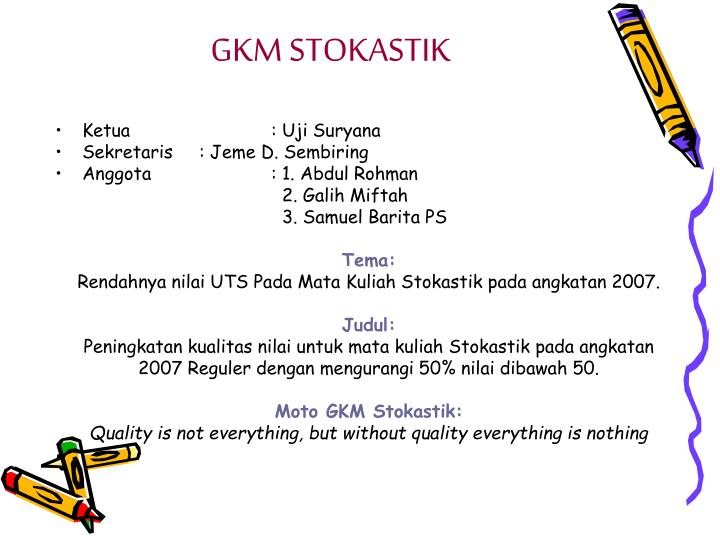 GKM STOKASTIK