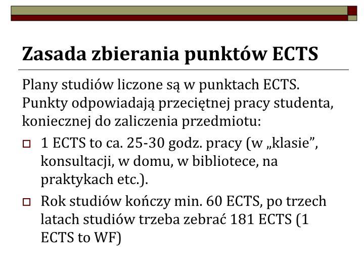 Zasada zbierania punktów ECTS