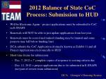 2012 balance of state coc process submission to hud