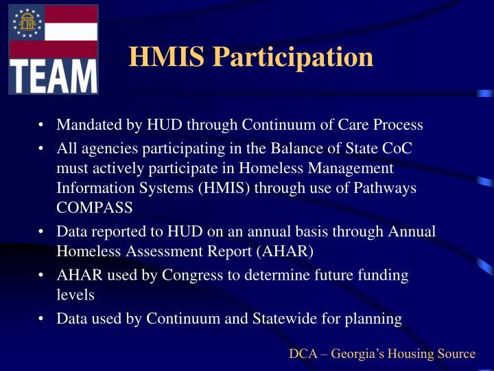 HMIS Participation