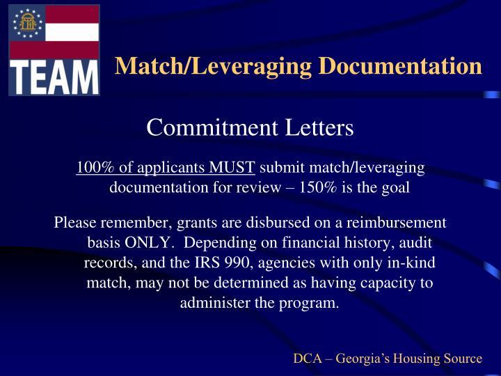Match/Leveraging Documentation