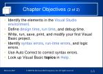 chapter objectives 2 of 2
