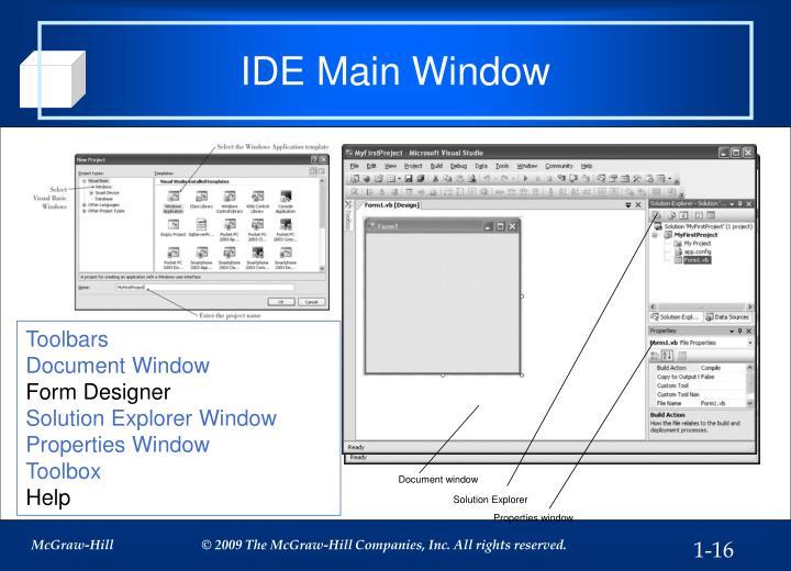 IDE Main Window