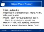 object model analogy