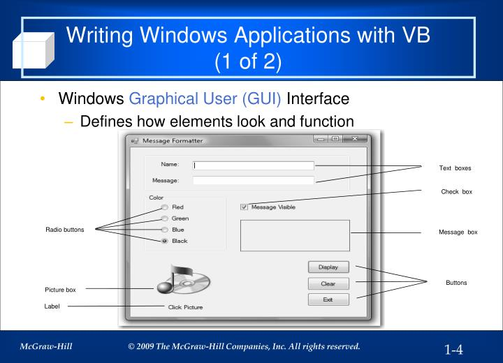 Writing Windows Applications with VB