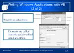writing windows applications with vb 2 of 2