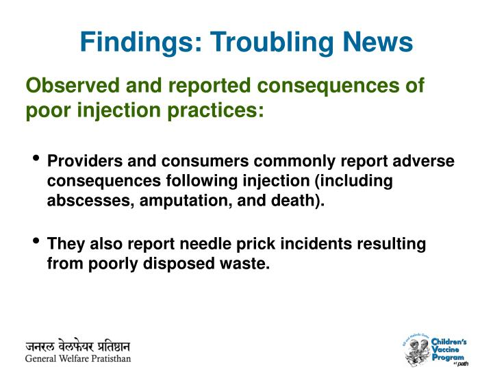 Findings: Troubling News