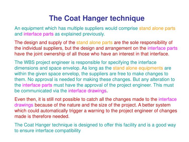 The Coat Hanger technique